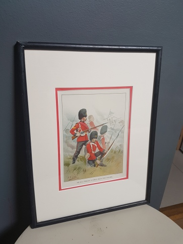 """an original hand painted picture of """"Royal Irish Fusiliers"""" from mid 1800s. E60.00"""